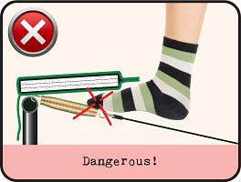 Skydda fötterna på studsmattan!